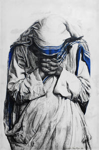 Mother Teresa of Calcutta - Canvas Replica (12 x 20 Inch, DELIVERY INCLUDED)