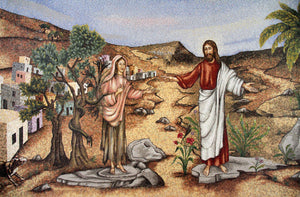Mary Magdalene Chapel - Replica on canvas of Mosaic Chapel Mural (27 X 20 inch, DELIVERY INCLUDED)