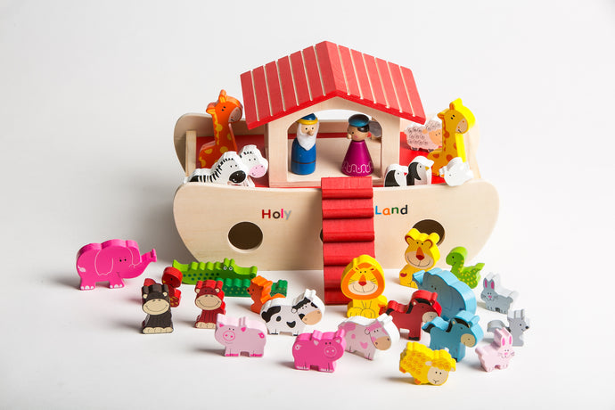 KIDS WOODEN NOAH´S ARK PLAYSET