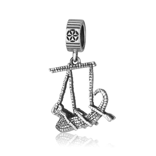 The Mosaic Boat silver charm
