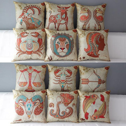 Buy 12 Constellations Zodiac Pillow Covers