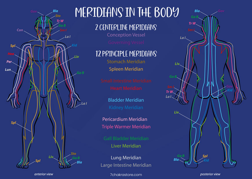 12 Meridians Chart - What Are The 12 Meridians