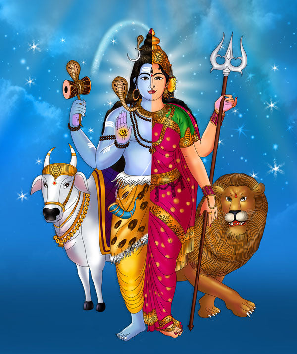 Ardhanarishvara - Shakti and Shiva Union