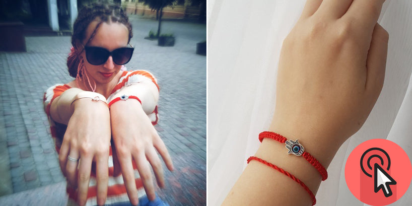 Buy Kabbalah Red String Hamsa Bracelets