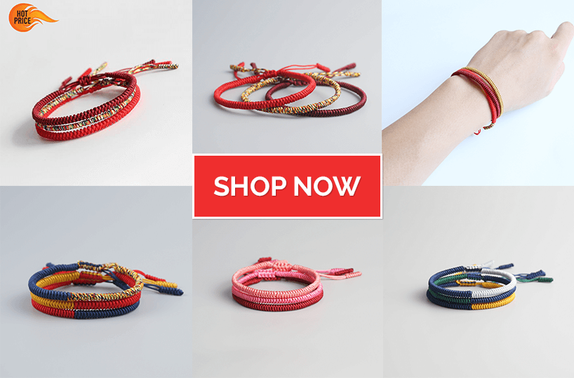 Shop for Tibetan Buddhist Lucky Knots Bracelets