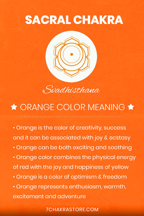 Sacral Chakra Orange Color Meaning