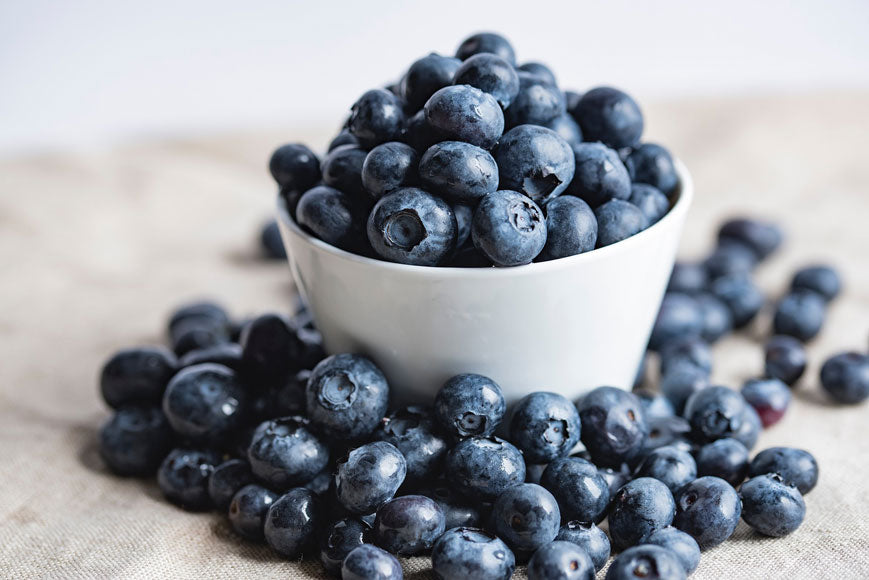 Third Eye Chakra Healing Foods - Blueberries