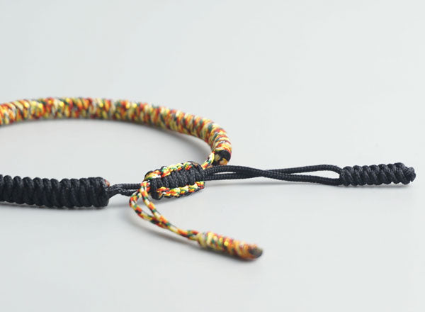 Tibetan Buddhist String Bracelet Adjustable Size Closure