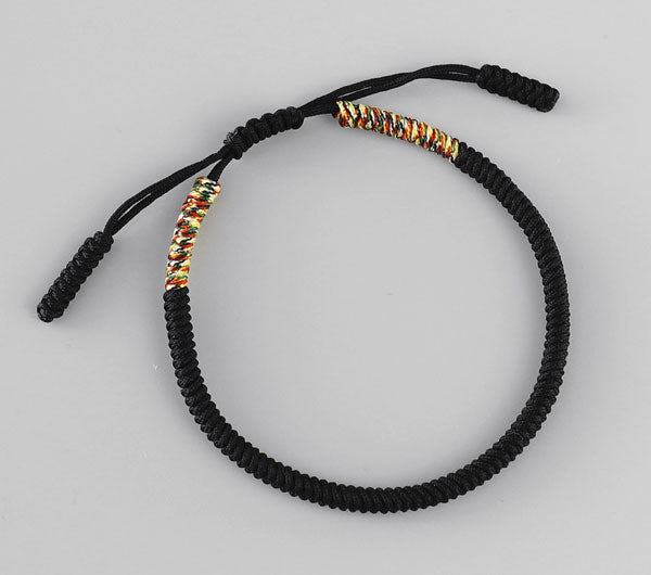 Tibetan Buddhist String Bracelet Top View