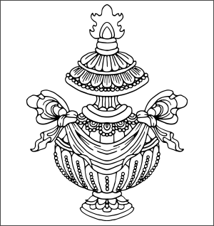 Buddhist Treasure Vase Symbol