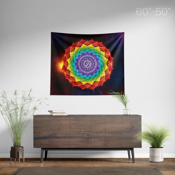 7 Chakras Mandala Wall Hanging Tapestry - Chakra Spiritual Home Decor - Size Medium