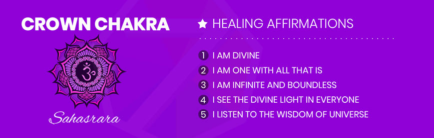 Crown Chakra Healing Affirmations