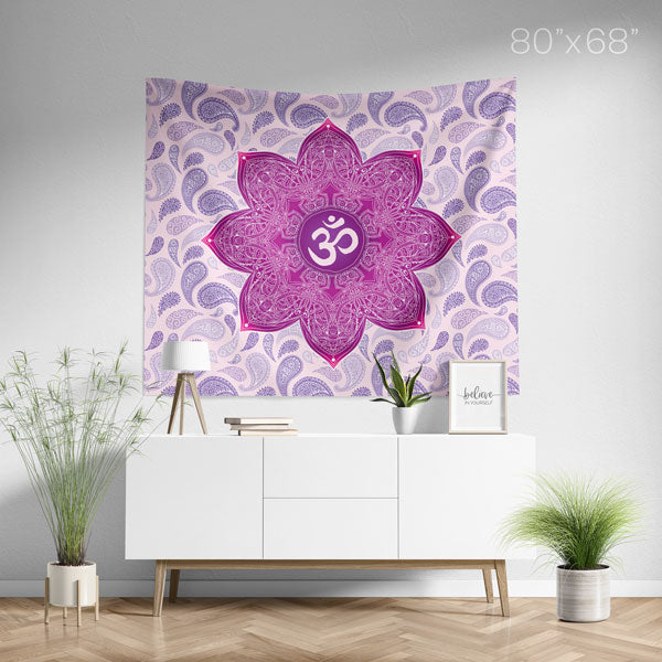 Crown Chakra Mandala Wall Tapestry - Large