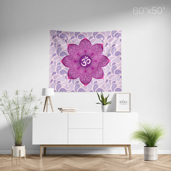 Crown Chakra Mandala Wall Tapestry - Medium