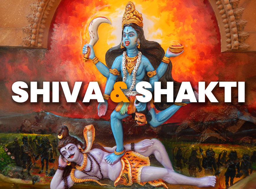 Shiva and Shakti Divine Union Painting