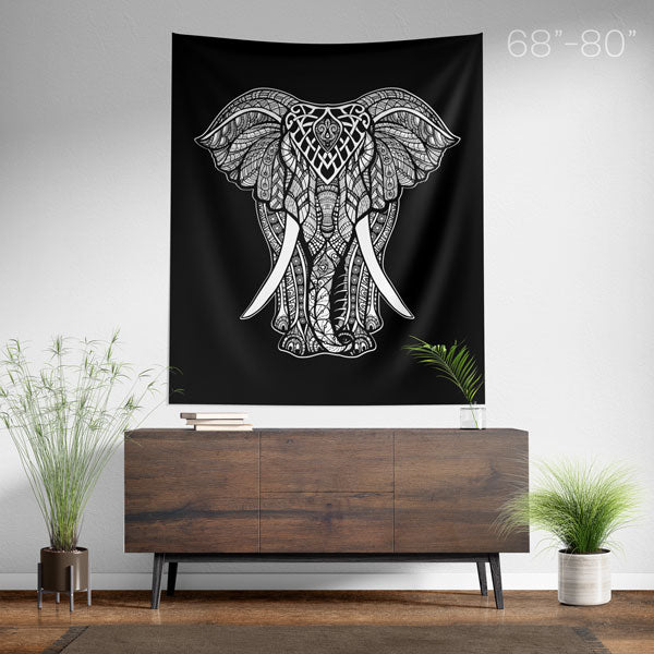 Elephant Wall Tapestry Large