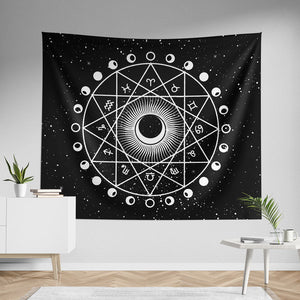 Zodiac Astrology Wall Tapestry