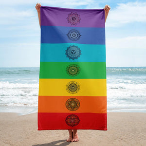 7 Chakra Cotton Rainbow Towel