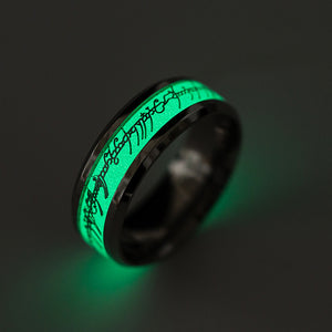 FREE Glow In the Dark Ring of Power with Elvish Runes - Lord Of The Rings - 7 Chakra Store
