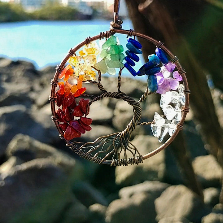 7 Chakras Tree Of Life Handmade Necklace - 7 Chakra Store