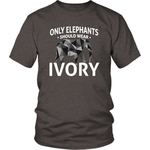 Elephants Wear Ivory Unisex Shirt