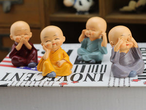Little Baby Buddha Statues | 4pcs set