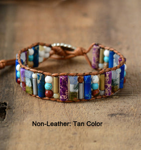Amihan Boho Leather Wrap Bracelet - 7 Chakra Store