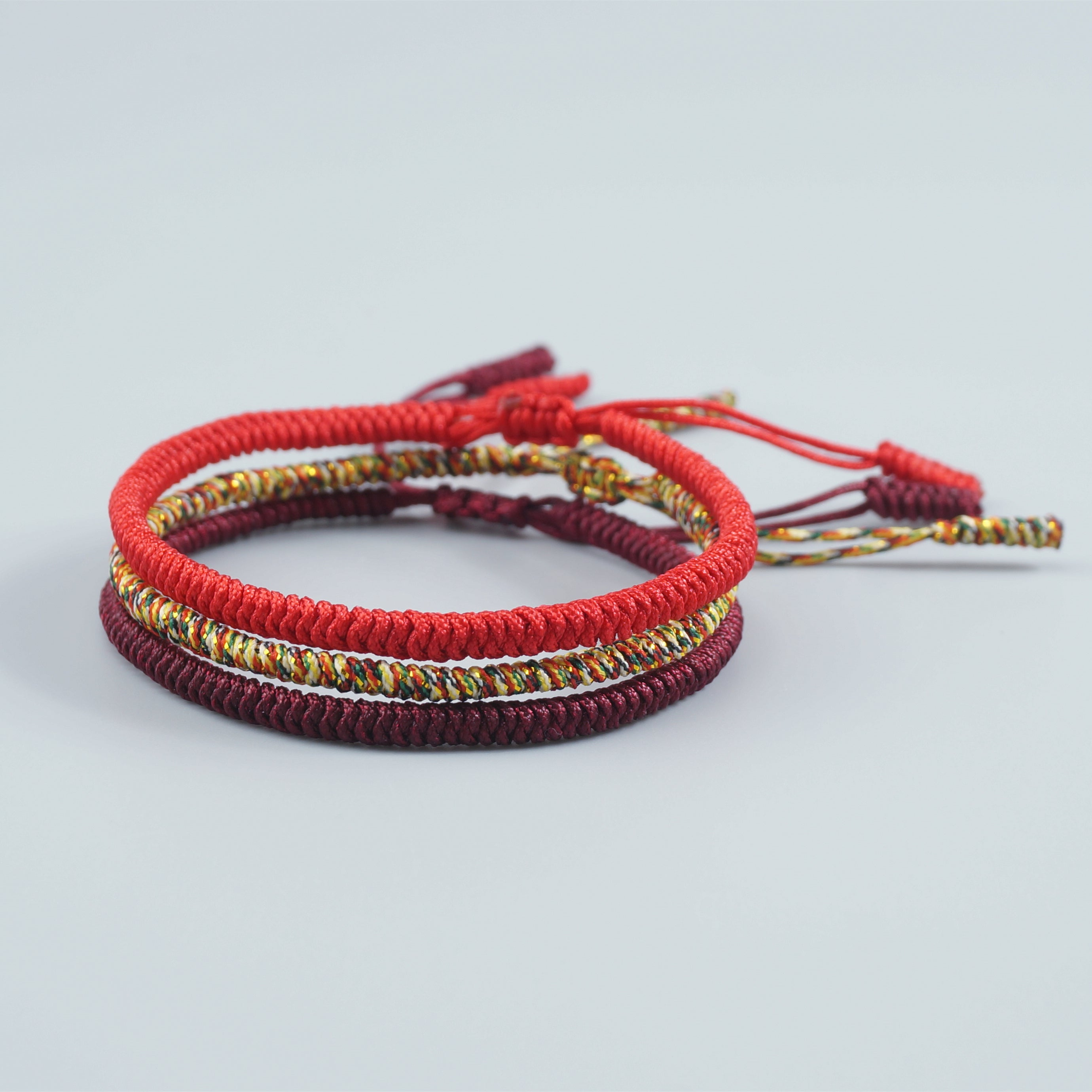 Tibetan Buddhist Lucky String Bracelets | 3PCS Protection - 7 Chakra Store