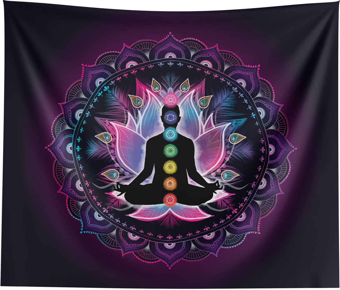 Chakra Wall Tapestry - 7 Chakras Wall Hanging Home Decor Art