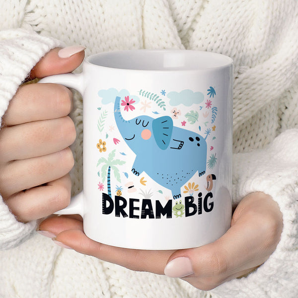 Dream Big Cute Elephant Inspirational Coffee Mug