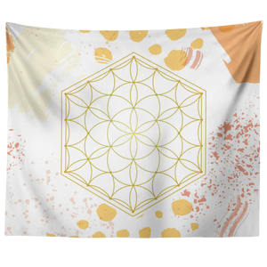 Golden Seed of Life Mandala Tapestry - 7 Chakra Store
