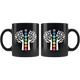 7 Chakras Tree of Life Black Mug