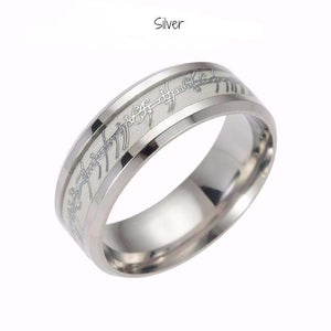 Glow In the Dark Ring of Power with Elvish Runes - Lord Of The Rings - 7 Chakra Store