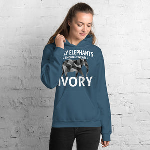 Only Elephants Wear Ivory Unisex Hoodie - 7 Chakra Store
