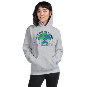 Save The Elephants Unisex Hoodie - 7 Chakra Store
