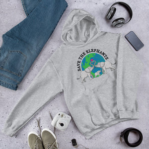 Save The Elephants Unisex Hoodie