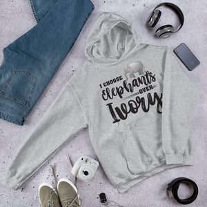Choose Elephants Unisex Hoodie - 7 Chakra Store