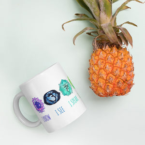 7 Chakra Watercolor Affirmations Coffee Mug