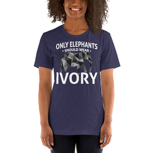 Only Elephants Wear Ivory Unisex T-Shirt