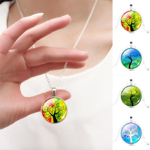 Glass Tree Of Life Necklace - 7 Chakra Store