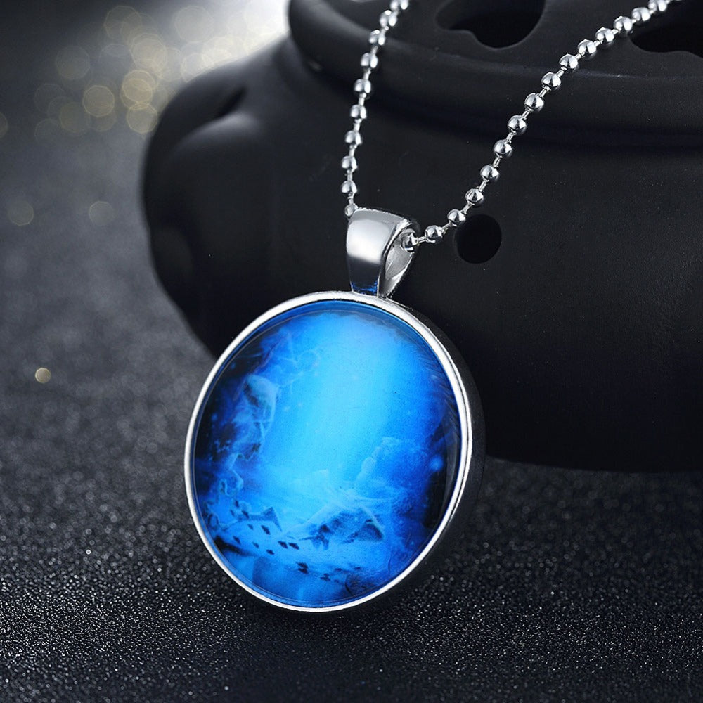 necklace cyan wishing product bracelet glow jewelry free bottle in original the pendant shipping dark glowing