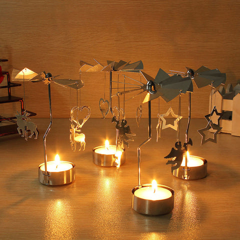 Rotary Spinning Carousel with Tea Light Holder