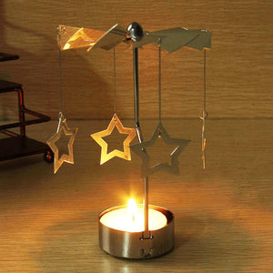 Rotary Spinning Carousel with Tea Light Holder - 7 Chakra Store