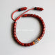 Tibetan Six Words Mantra Red Sandalwood Bracelet - 7 Chakra Store