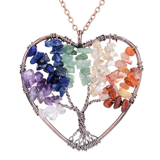 7 Chakras Tree Of Life & Love Necklace - 7 Chakra Store