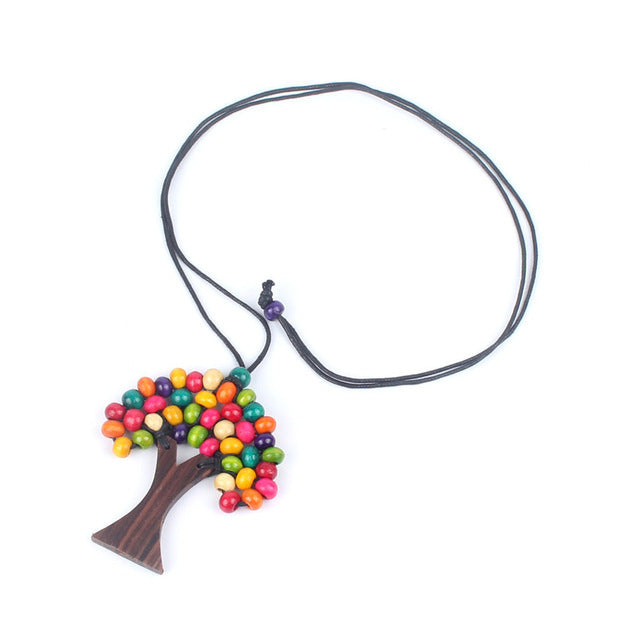 Ethnic Tree Of Life Necklace - 7 Chakra Store
