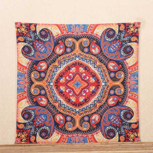 Colorful Indian Mandala Tapestry - 7 Chakra Store