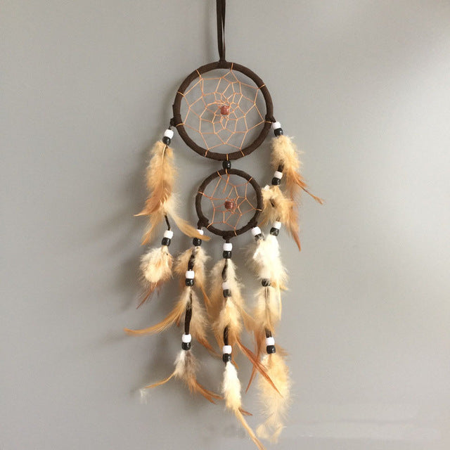 Vintage Feather Dream Catcher - 7 Chakra Store