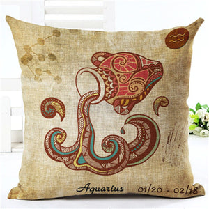 High Quality 12 Constellations Zodiac Pillow Covers - 7 Chakra Store