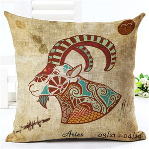 FREE High Quality 12 Constellations Zodiac Pillow Covers - 7 Chakra Store